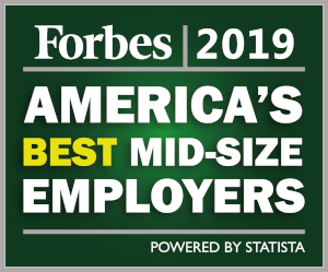 Forbes 2019 America's Best Mid-Size Employers logo