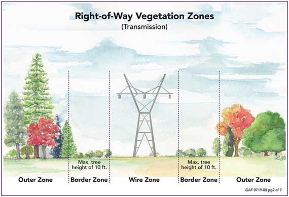 right of way vegetation zones