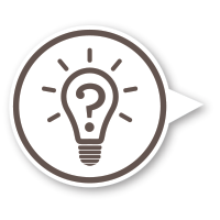 question light bulb icon