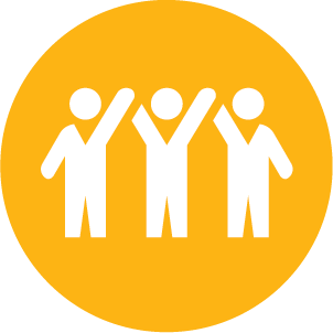 Icon of people joining hands