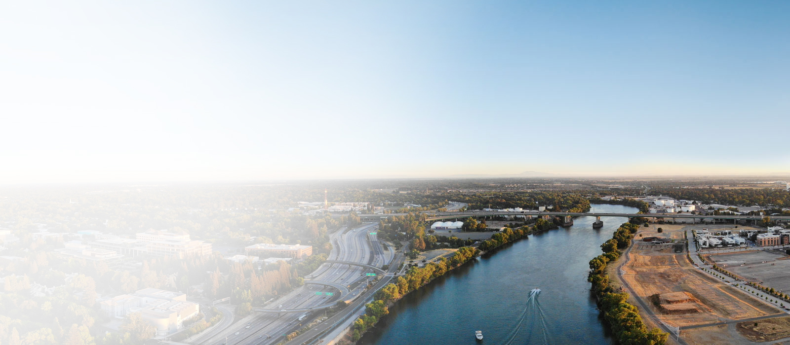 Aerial view of the Sacramento River