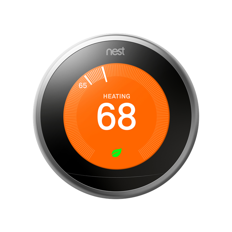 Nest thermostat set to 68 degrees