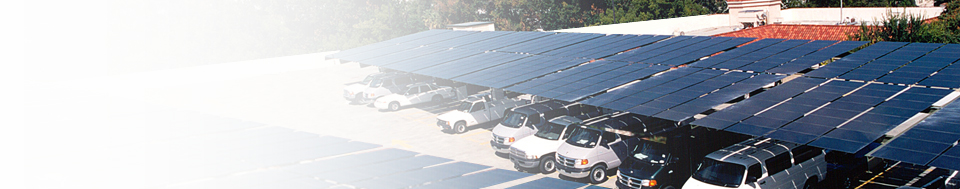 Parking lot with solar