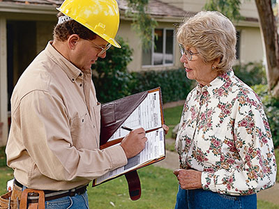 contractor and customer