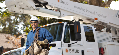 SMUD linemen and his truck