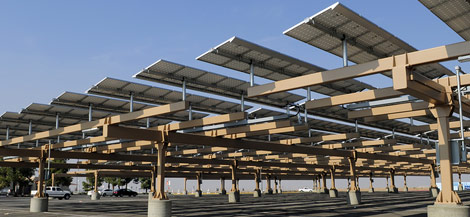 parking lot solar array