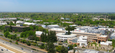 Aerial view of the SMUD campus